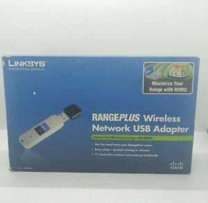 Linksys WUSB100 Wireless-G RangePlus USB Adapter (New Open Box )