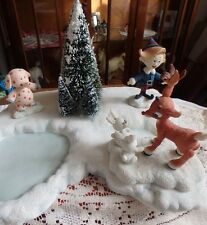 Rudolph and the Island of Misfit Toys - 3 Figurines & Pond - Enesco 2001