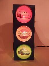 Used Disney Pixar Cars Stop Traffic Night Light Lamp Mcqueen Mater Works
