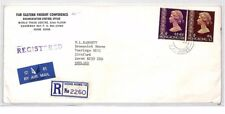 BR282 1970s HONG KONG Causeway Bay REGISTERED Commercial Airmail Cover
