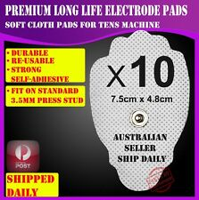 10 Electrode Pads for TENS Machine Massager CIRCULATION BOOSTER Unit CLOTH XFT