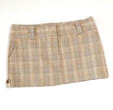 Charlotte Russe Mini Skirt Sz 7 Tweed Plaid Schoolgirl Style Stretch Medium W30