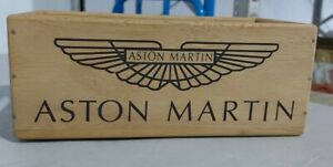 Wooden Storage Box Crate Aston Martin Vintage Style Collectable Luxury Cars Gift