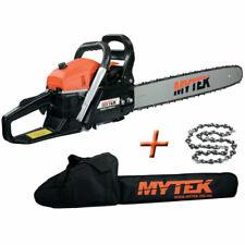 MYTEK GPSOT83230 62cc 60cm Tronçonneuse Thermique avec Chaîne et Housse