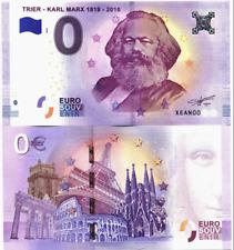 MARX BIRTHDAY BARGAIN: 0 EURO BANKNOTE KARL MARX TRIER, ZERO €