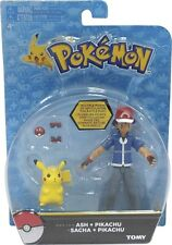 Pokemon Ash Ketchum with Pikachu Action Figure Pack Tomy USA 2015 NEW