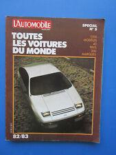 """L'Automobile """" TOUTES LES VOITURES DU MONDE """"  1982-1983  Hors-Série  N° 5"""