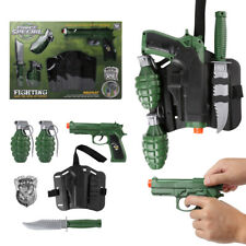 Military Force Combat Role Toy Gun Play Set Kids Toy For Children Christmas Gift