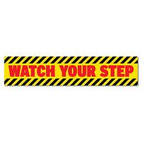 Watch Your Step Warning Sticker Decal Safety Sign Car Vinyl #7261EN
