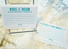 Alternative Wedding Guest Book Rustic set of 36 Tiffany Blue Advice Cards only