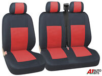 2+1 RED BLACK SINGLE & DOUBLE SEAT COVERS FOR VAUXHALL VIVARO RENAULT TRAFIC