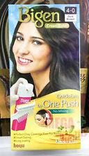 Bigen One Push Permanent 4-0 Dark Brown Hair Color Speedy Easy Coverage New
