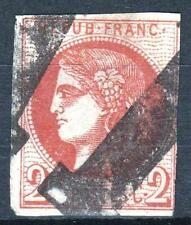 "FRANCE STAMP TIMBRE 40 Ba "" BORDEAUX 2c ROUGE BRIQUE "" OBLITERE SIGNE  P325"