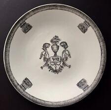 "United Wilson JUWC 1897 14.5"" Round Platter Plate Black & White Hand Porcelain"
