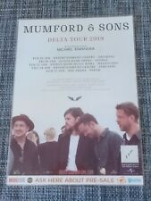MUMFORD AND SONS - 2019 DELTA TOUR -  LAMINATED AUSTRALIAN PROMO TOUR POSTER