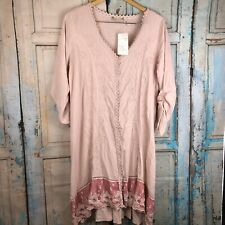Soft Surroundings embroidered size PL dress New