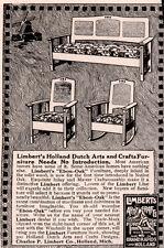 1915 AD  LIMBERT CO GRAND RAPIDS FURNITURE HOLLAND WINDMILL DUTCH ARTS CRAFTS