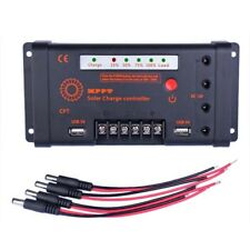 10A 12V/24V MPPT Solar Panel Regulator Charge Controller 55V Input & DC USB WE