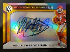 MECOLE HARDMAN RC /99 HARD AUTO 2019 Panini Elements ROOKIE NEON SIGNS CHIEFS 🔥