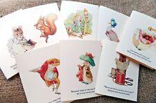 Set of 8 Blank Beatrix Potter Peter Rabbit C6 Note/Greetings Cards & Envelopes