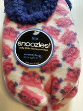 Snoozies Foot Covering Slippers Hipster Cat Women's Size Large 9/10 NWT