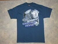 Harley Davidson  T-Shirt Size L  Chrome Fever USA  VINTAGE 90s Fullerton Calf