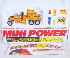 Shinsei Mini Power 1:68 MITSUBISHI MOTOR GRADER LG-2 + Acc. & Fig. MIB`80 RARE!