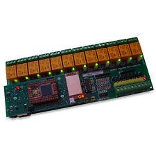 Modulo Wireless WiFi, TCP/IP, VB & WEB:12 Canali Relè, 16 analog/digital input