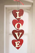 Hanging LOVE Hearts Home Decor Hanger Homewares Gift 38cms BRAND NEW Red