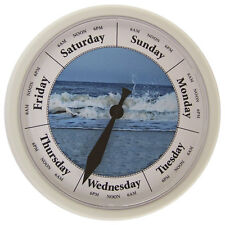 "DAY OF THE WEEK CLOCK 10"" Wall Day Clock #D231W Breakers"
