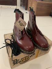 New Old Stock Dr Martens Made in England, Cherry Red size UK8 1460Z