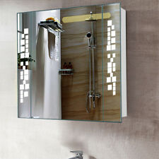 Dual Sided Bathroom Vanity Mirror Cabinet LED Light Up with Shaver Socket Unit