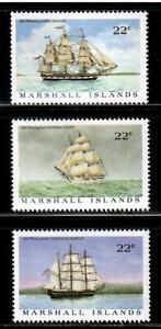 Marshall Islands # 132 through # 134  Whaling Ships , F-VF OG NH - I Combine S/H
