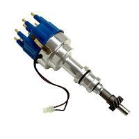 Coil HEI Distributor Billet Blue Cap For BBF Ford 351C 400 429 460 Cheveland V8
