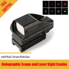 Tactical Rifle Handgun Red Green Dot Holographic Reflex Rifle Scope Laser Sight
