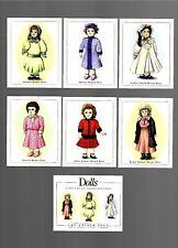 CIGARETTE/TRADE/CARDS. Golden Era. DOLLS.(1996). (Complete Set of 7).