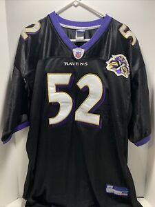 NFL Football Baltimore Ravens 10th Anniversary 2005 Ray Lewis Jersey #52 Size 56