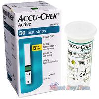 <ROCHE>Accu-Chek Active Diabète Diabétique 50 Bandelettes De Test Exp. 01/2019