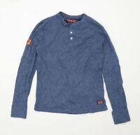 Superdry Mens Size M Cotton Blend Blue Sweatshirt