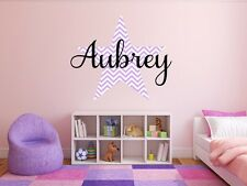 """Personalized Chevron Star Name Monogram Decal 18"""" Tall"""