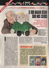 Coupure de presse Clipping 1992 Le Roi Babar & Christian Alers   (1 page)