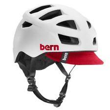 Bern Allston Zipmold Road Helmet w/ Flipaway Visor - White - Small-Medium
