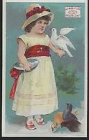 Pearline Washing Compound Girl Bird, Family Lot of Two Victorian Trade Cards