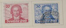 Germany - BERLIN: 20pf/30pf Goethe Birth bicent of 1949. Scott #9N62-9N63 USED
