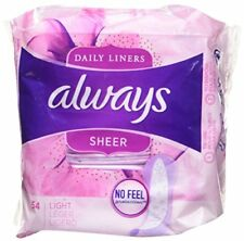 Always Sheer Unscented Wrapped Light Daily Liners 54 Count Package