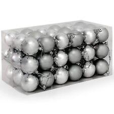 Confezione 54 Palline di Natale colore Silver diametro 6 cm Addobbo Natalizio