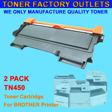 2PK TN450 Black Toner Cartridge For Brother HL-2220 HL-2230 HL-2240 HL-2240D