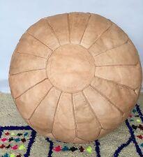 XXL Marocchino cucito a mano 100% in Pelle Pouf/cuscino pavimento/SABBIA/CLAS