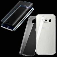 Silikoncase Transparent + Panzerfolie für Samsung Galaxy S7 Edge G935F Tasche