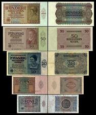5 - 100 Billionen Mark 5 Reichsbanknoten Feb/März 1924 - 1.+2. Ausgabe P137-P141